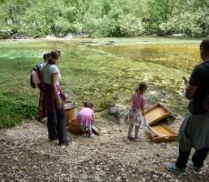 Детский праздник у Бохиньского озера