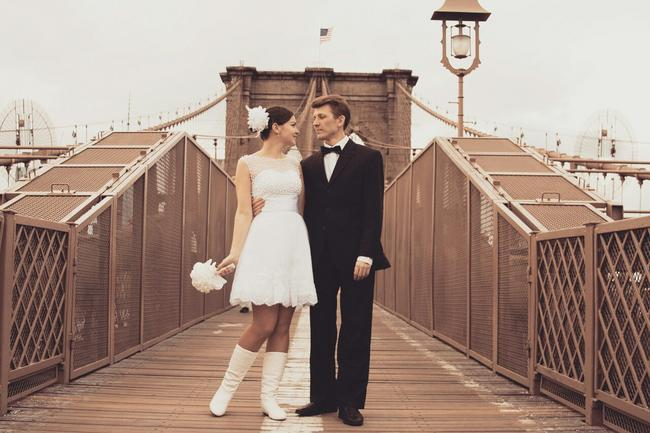 Фото на Бруклинском мосту