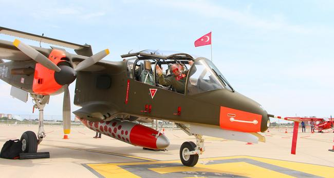 North American OV-10 Bronco, американский легкий штурмовик 60-х