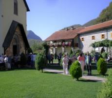 В монастыре Морача