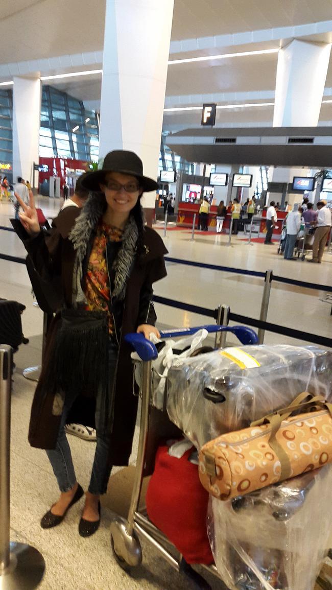 В аэропорту Нью-Дели
