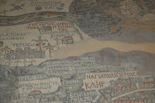 Фрагмент карты в церкви Св. Георгия.