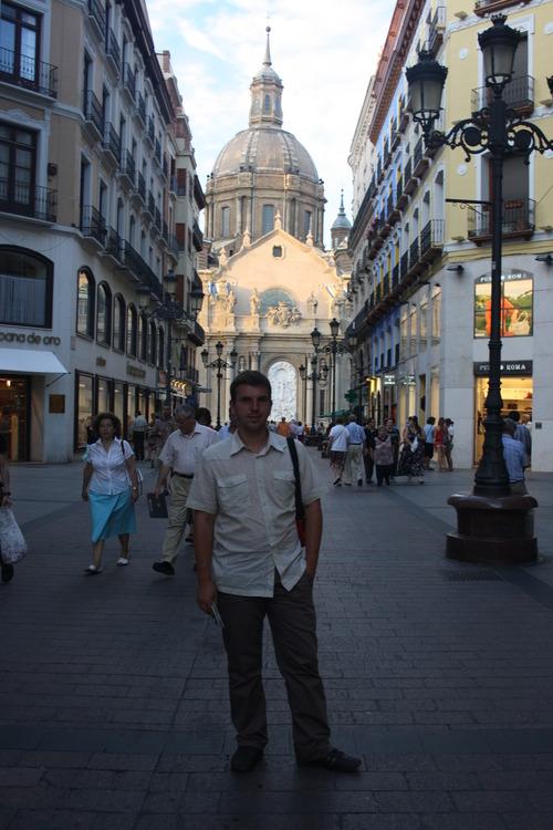 Сарагоса. Собор Центральная улица. Вид наЭль Пилар.