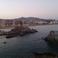 Вид с моря на Ллорет Де Мар вечером