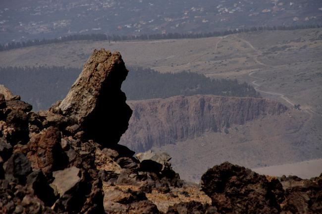 Вид с самой вершины пика Тейде