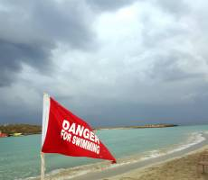 пляж Nissi beach и резко меняющаяся погода Кипра