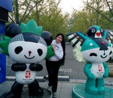 В Олимпийской деревне - символы пекинской Олимпиады