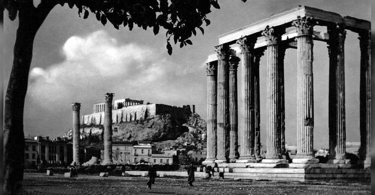 Ретро фото Храма Зевса Олимпийского