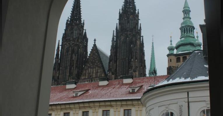 Собор св.Вита, вид через арку