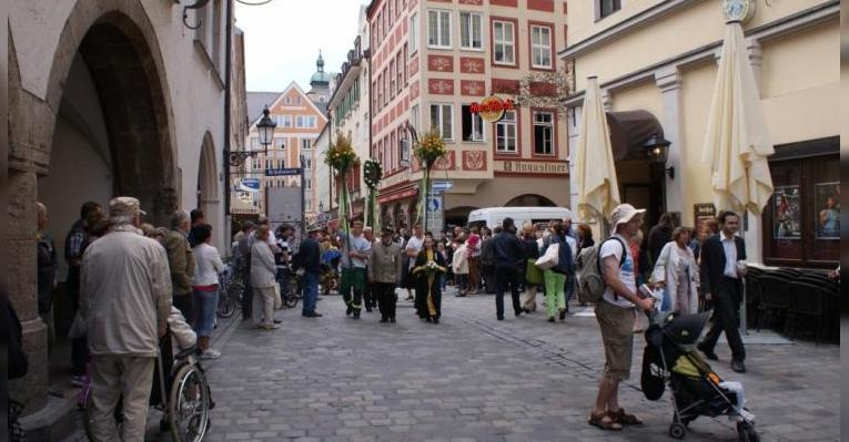 Улица Платцль в Мюнхене