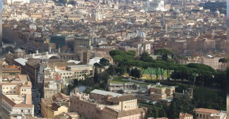 Вид на Рим со смотровой площадки собора Святого Петра