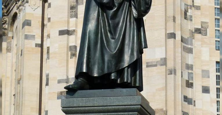 Памятник Мартину Лютеру. Дрезден