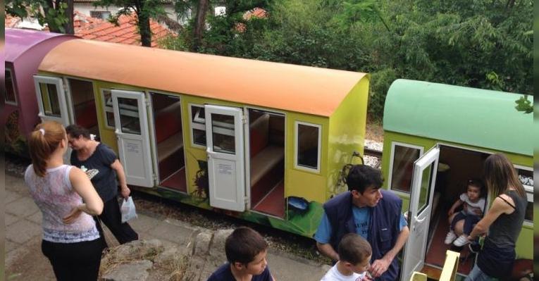 Детская железная дорога Знамя мира. Пловдив