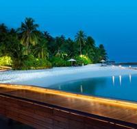 Пляж острова Рангали Финолу атолла Ари