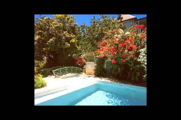 Сад у бассейна