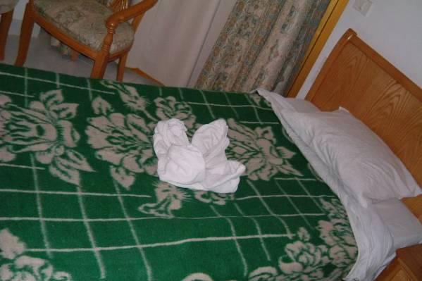 Роза из полотенца