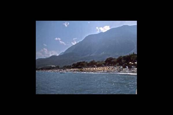 Панорамный вид на пляж