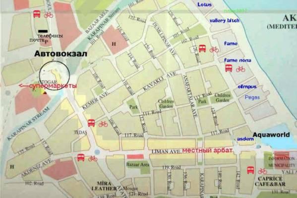 Карта города Кемер